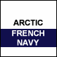 Arctic White & French Navy