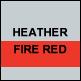 Heather & Fire Red