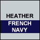 Heather & French Navy