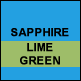 Sapphire & Lime