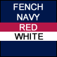 Navy, Red & White