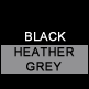 Black & Heather Grey