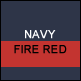 Navy & Fire Red