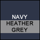 Navy & Heather Grey