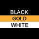 Black, Gold & White