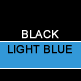 Black & Light Blue