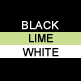 Black, Lime & White