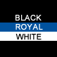 Black, Royal & White