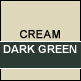 Cream & Dark Green