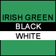 Irish Green, Black & White