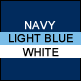 Navy, Light Blue & White