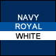 Navy, Royal & White