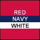 Red, Navy & White