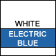 White & Electric Blue