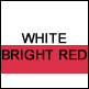 White & Bright Red