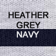 Heather Grey and Navy
