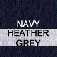 Navy and Heather Grey