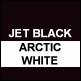 Jet Black & Artic White