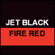 Jet Black & Fire Red