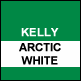 Kelly Green & Artic White