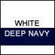 White & Deep Navy