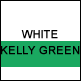 White & Kelly Green