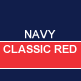 Navy & Classic Red